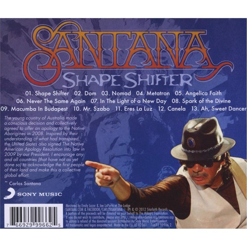 Santana Shape Shifter Audio Cd 2012