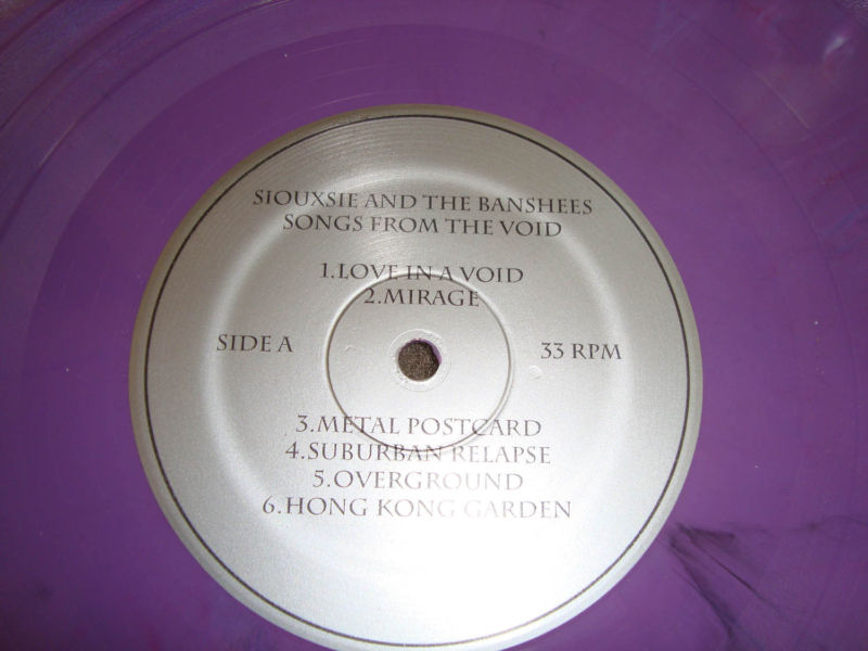 Siouxsie and the banshees song from the void lp vinyl - Siouxsie and the banshees hong kong garden ...