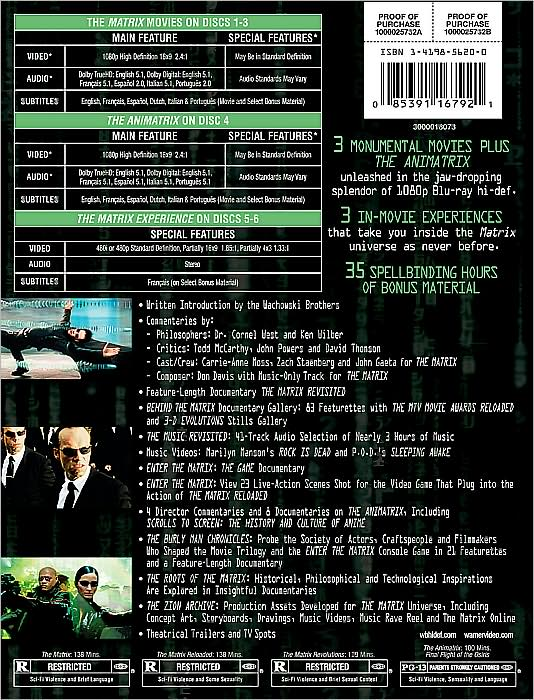 Matrix The Ultimate Matrix Collection Blu Ray 6 Disc