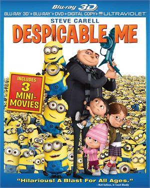 Despicable Me Starring Steve Carell Jason Segel Russell Brand Julie Andrews 3d Blu Ray Blu Ray Dvd Digital Copy Ultraviolet May 28 2013